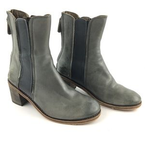 Gee Wawa Anthropologie Andrea Leather Boots Gray
